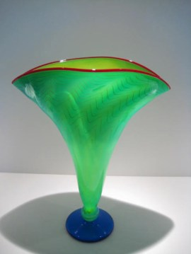Strini-Aqua-Yellow-Fan-Vase