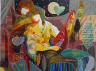 "Medium: Original Acrylic on Canvas Size: 40"" x 30"" #19797 Artist: Tadeo De La Barra"