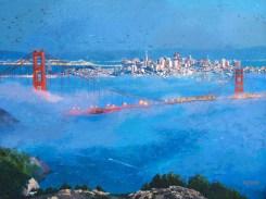 "When the Fog Rolls In Original Oil on Canvas 30"" x 40"" Artist: Gina Tecson #19655"