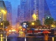 "Winter Blues Original Oil on Canvas 30"" x 40"" Artist: Gina Tecson #20268"