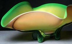Melon Bowl Hand-Blown Glass 9.75 x 27.5 x 17.25