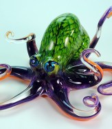 Green Violet Octopus