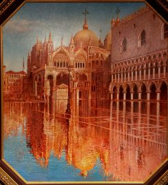 """San Marco Square 30"""" x 33"""" #20846 Oil on Canvas Artist: Angelo Vadala"""