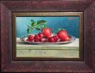 Strawberry & Cherries 8x12 unframed, F13.25x17.25 #20902 Artist: Alexander Baxter