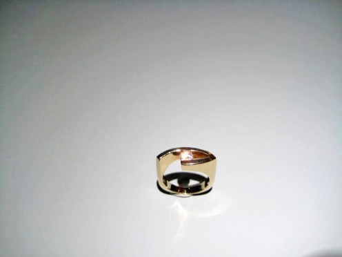 14K Gold Ring with 5MM C.Z. Artist: Artell Catalog: 602-45-7