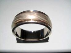 14K Grey Gold Ring with Paletium Artist: George Sawyer Catalog: 902-27-7