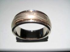 14K Grey Gold Ring with Paletium Artist: George Sawyer Catalog: 902-27-7