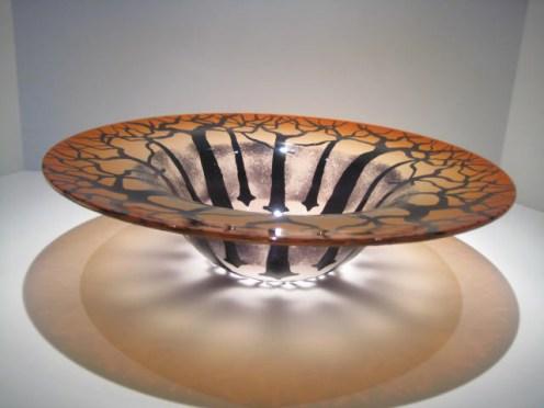 "Topaz Tree Bowl Artist: Bernard Katz Catalog: 603-17-1 #19586 15"" x 4"" Price: $975.00 REDUCED: $450.00"