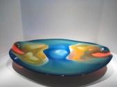 Blue and Orange Bowl Artist: David Lewin Catalog: 800-83-7