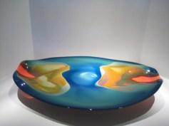 Blue and Orange Bowl Artist: David Lewin Catalog: 800-83-7 #19563 Price: $1,500.00 REDUCED: $975.00