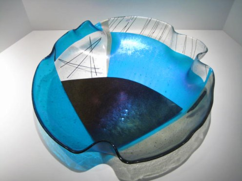 Fused Black and Blue Plate Artist: Dean Mermel Catalog: 212-03-2 #21028 Price: $1,250.00 REDUCED: $850.00