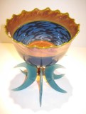 Moorish Bowl with Stand Artist: Robert Mickelson Catalog: 611-07-7 #19413 Price: $1,250.00 REDUCED: $800.00