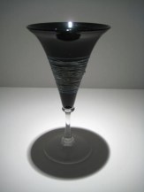 Silver-Wrapped Black Goblet Artist: Romeo Catalog: 901-01-02