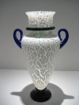 Crackle Vase with Handle Artist: Michael Schunke Catalog: 601-46-3 #19598 Price: $1,250.00 REDUCED: $950.00
