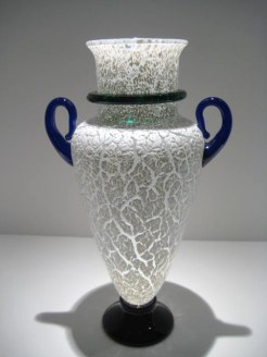 Crackle Vase with Handle Artist: Michael Schunke Catalog: 601-46-3