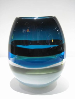 Blue Six-Banded U Vase Artist: Calob Siemon Catalog: 902-07-9
