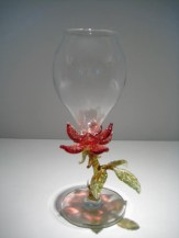 Rose Goblet Artist: Milow Townsend Catalog: 447-65-4 #19604 Price: $350.00 REDUCED: $195.00