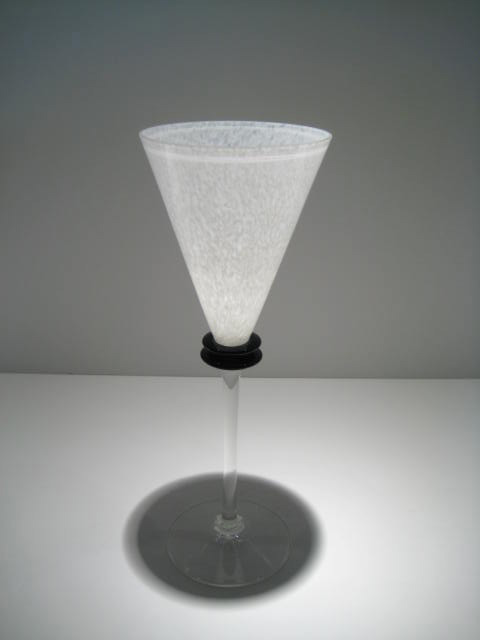 White and Black Wine Goblet Artist: Union Street Catalog: 603-36-81