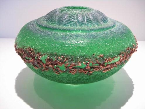 Genie Style Pate De Verre Vessel Artist: Keith Clayton Catalog: 897-53-2