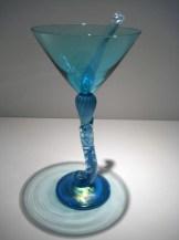 Aqua Martini Goblet Artist: Brioni Catalog: 602-60-9