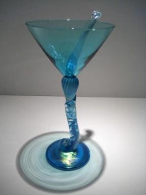 Aqua Martini Goblet Artist: Brioni Catalog: 602-60-9 #19612 Price: $150.00 REDUCED: $95.00