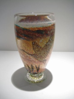 Flying Crane Vase Artist: Paul Bendzunas Catalog: 800-97-9