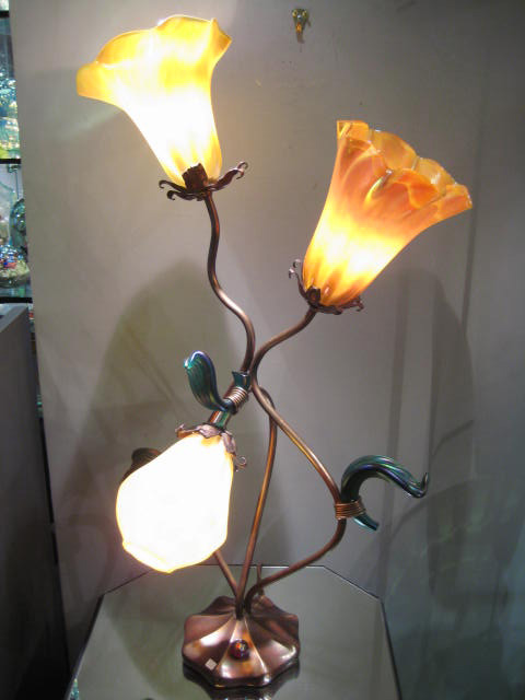 Morning Bloom Lamp Artist: John Cook Catalog: 248-33-8 #20273 Price: $3,500.00 REDUCED: $2,200.00