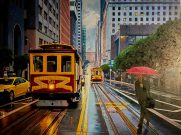 Let It Rain,Original Oil Artist: Gina Tecson on Canvas 30x40 #20762