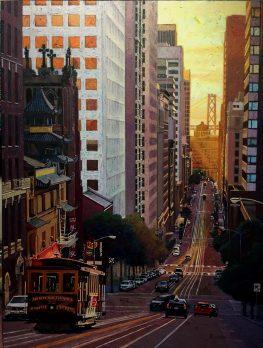 As The Sun Goes Down Original Oil on Canvas Artist: Gina Tecson 40x30 #20998