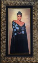 "Blue Eyes Original Oil on Panel Artist: Gabriel Picart 38"" x 18"" F 47"" x 29"" #20829"