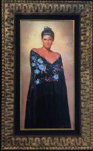 "Blue Eyes Original Oil on Panel Artist: Gabriel Picart 38"" x 18"" F 47"" x 29"" #20829"