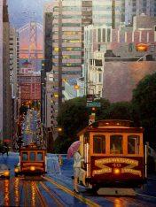 Reflecting Blue Original Oil Canvas Artist: Gina Tecson 30x40 #20997