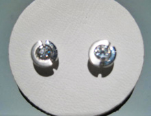 Platinum Earrings with .30 carat Diamond Artist: Rodolph Erdell Inv. # 18905 800389
