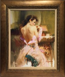 Ballgown, Hand embellished Giclee Artist: Pino 24x30 #17527Price: $5,400.00 REDUCED: $2,700.00