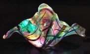 Shimmering Sea I I - XX LARGE TRANSLUCENT Dichroic Glass Poppe, Gina 14x27.5x14