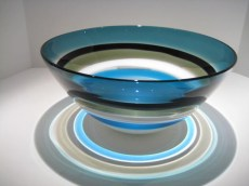 Blue Six-Banded Bowl Artist: Calob Siemon Catalog: 902-07-9 #19509 Price: $1,300.00 REDUCED; $800.00