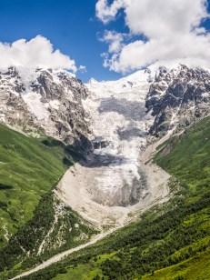 Gruzie, Svanetie (ledovec Adishi)