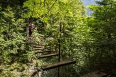 Neděle a začátek Postalmklamm Klettersteigu