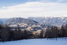 Pohled do údolí je stran sněhu výmluvný