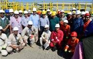 وزير البترول يتفقد سير العمل في مشروع حقل ظهر ..وارتفاع الانتاج لـ2مليار سبتمبر المقبل
