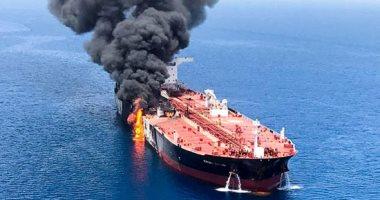 صورة انفجار ناقلة نفط روسية في بحر آزوف