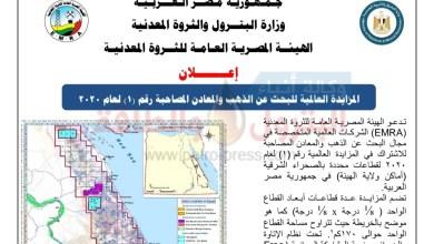 صورة ننشر اعلان مزايدة الذهب العالمية الأولى بنظام الإتاوة والضرائب فى مصر