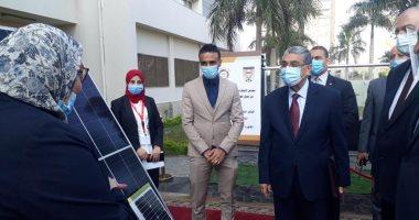 وزير الكهرباء يطالب بالعمل على تسويق منتجات الطاقة المتجددة.. صور