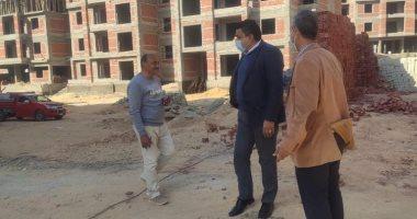 """رئيس جهاز مدينة ملوى الجديدة يتفقد أعمال تنفيذ 1024 وحدة سكنية بمشروع """"JANNA"""""""