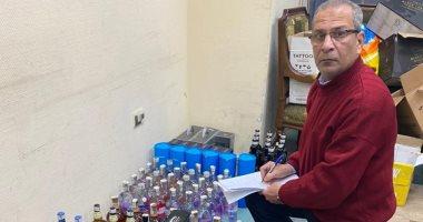 مكافحة التهرب الجمركى تضبط مشروبات كحولية غير خالصة الضرائب والرسوم