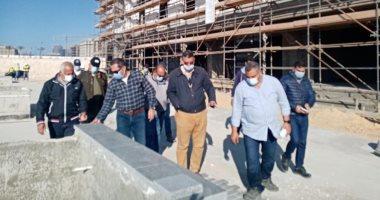 وفد حكومى يتفقد المشروعات المختلفة بمدينة العلمين الجديدة لمتابعة نسب التنفيذ