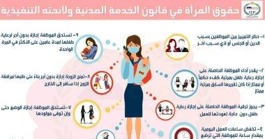 9 مواد فى قانون الخدمة المدنية تضمن حقوق المرأة فى العمل.. إنفوجراف