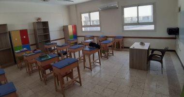 الانتهاء من التجهيزات الأخيرة لتشغيل المراحل التعليمية بمدرسة النيل الدولية بالشروق