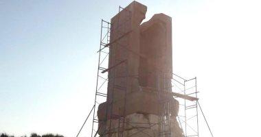 بدء أعمال مشروع درء الخطورة عن ناووس تل الربع بمحافظة الدقهلية