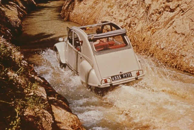 Citroen 2CV in the water